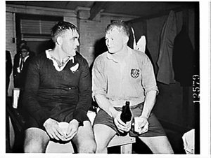 New Zealand All Blacks Rugby Union versus the Wallabies in the First Test in Brisbane 1962