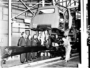 Ford dealers visit the Auburn Truck Plant