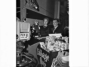Miss Wagga Wagga (1961 or 1962) on a TCN 9 children's television program with Desmond Tester