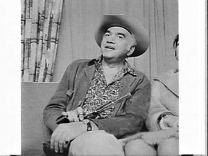 Star of the television western series Bonanza, Lorne Greene, and his wife, Mascot