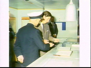 Prince Charles visits an Overseas Containers (OCL) ship, Melbourne