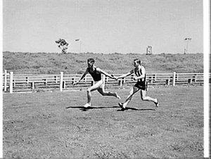 Sprinters training, E.S. Marks Memorial Field