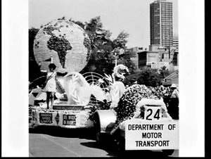 Waratah Spring Festival procession, 1968