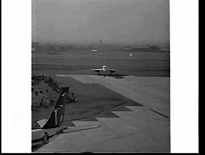 Arrival of the supersonic Concorde aeroplane, Kingsford Smith Airport, Mascot