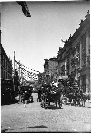 Park Street looking east, Federation Celebrations, 1901