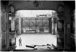 Rebuilding the Theatre Royal after the fire, 1892