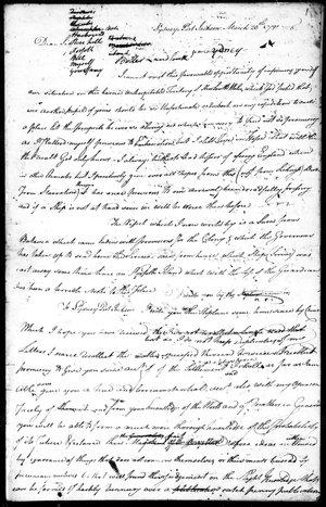 John Harris - Papers, 1791-1837