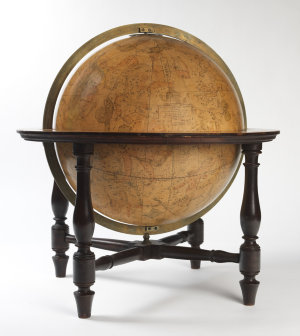Cary's new celestial globe : on which are carefully laid down the whole of the stars and nebulae contained in the catalogues of Revd. Mr. Wollaston, Herschel, Bode, Prazzi, Koch &c., calculated to year 1820 : the stars are classified in successive order of magnitude. Greek letters or figures prefixed to the stars signify from the British catalogue a stroke drawn under the figures thus 45 °_ de la Caille - H. Hevelius - M. Mayer C.H.C. Herschel and B. Bradley.