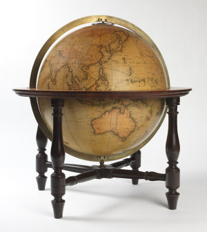 Cary's new terrestrial globe drawn from the most recent geographical works : shewing the whole of the new discoveries with the tracks of the principal navigators and every improvement in geography to the present time / G. & J. Cary.