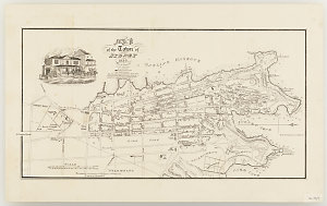 Map of the town of Sydney 1836 [cartographic material] / drawn & engraved for the proprietor W.G. Caporn ; [W. Wilson, sculp.]