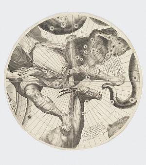 Orbis caelestis typus [cartographic material] / Opus a P. Coronelli, min. conventli., serenissimaeque Reipub. Venetae cosmographo, inchoatum, societatis Gallicae Sumptibus, absolutum, Lutetiae Parisiorum ; delin. Arnoldus Deuvez, regiae Acad. Pictor Reg. Chr. ; sculp. I. B. Nolin, calcographus.