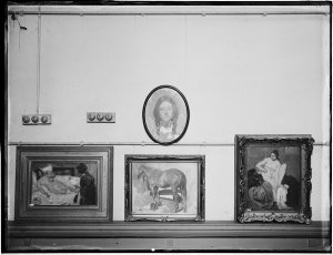 Series 17: George Lambert Memorial exhibition [1930] : paintings shown at the Education Department's Art Gallery and Anthony Hordern's Art Gallery / photographed by Arthur Ernest Foster