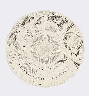[Coronelli terrestrial globe three feet six inches in diameter] [cartographic material] / Dal P. Coronelli.