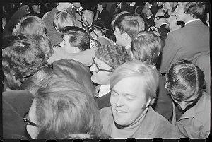 Item 343: Tribune negatives including police officer speaks to demonstrators on street, student demonstration opposing Conscription Bill,  and Sydney University student speeches, June 1968