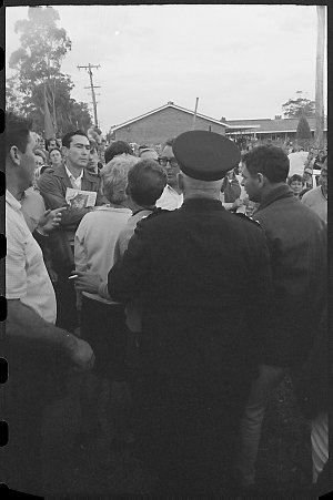 Item 337: Tribune negatives including demonstration march and meeting in support of Simon Townsend at Ingleburn, June 1968