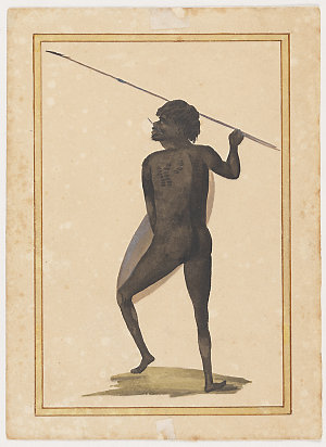 Australian Aborigines, pre 1806 / attributed to George Charles Jenner and W.W. [William Waterhouse]