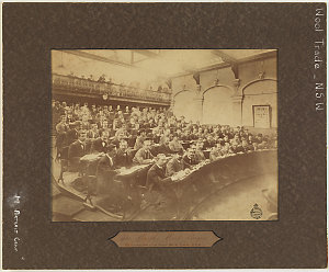 The World's Wool Buyers - The Opening Sale of the Season 1897-98, Sydney, N.S.W., 1897
