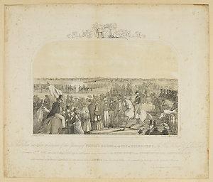 Opening of Prince's Bridge, Melbourne / William Strutt