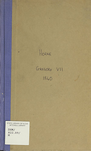 Gregory VII : a tragedy / by R.H. Horne.