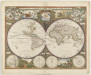 Nova totius terrarum orbis tabula [cartographic material] / auctore F. de Wit.