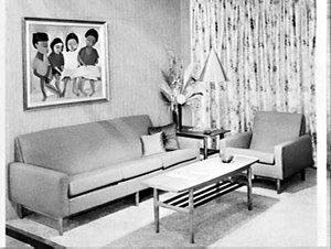 Parker-Knoll Furniture exhibit, Furniture Show 1966, Sydney Showground
