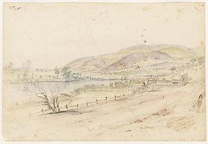 [View of] River Derwent, near Sorell Creek, New Norfolk, 24 February, 1849 / Henry Grant Lloyd