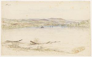 [View of] River Derwent below New Norfolk, 1849 / Henry Grant Lloyd