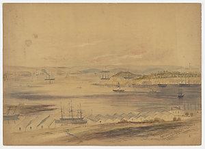 [View of] Port Jackson, Sydney, from Dawes Battery, 1862 / Henry Grant Lloyd