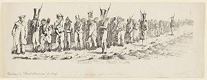 Hobart Town Chain Gang, 1842 / Edward Backhouse