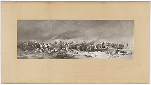 Black Thursday, an episode of the Australian bush fires, 6 February 1851, reproduction after ca. 1861 / from the picture by Wm. Strutt
