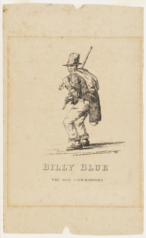 """Billy Blue, """"The Old Commodore"""", 1834 / drawn and printed by C. Rodius"""