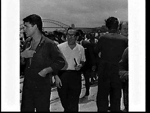 Mr. Mintoff's visit to Garden Island Dockyard
