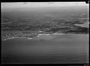 Item 23: Milton Kent aerial views of Cronulla, Meadowbank, Nepean, Sydenham, Woronora ?, 194-, Alexandria, Homebush, Lidcombe, 1953 or 1955