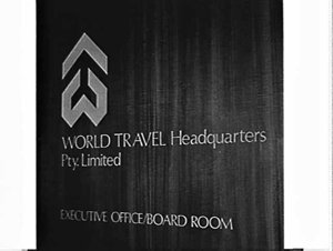 Executive office and board room sign, World Travel Headquarters, P. & O. Booking Centre