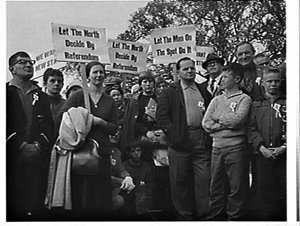 Demonstration for the creation of a new state to be called New England, Domain