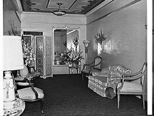 Drawing room of the Royal Box on the occasion of King Rama IX and Queen Sirikit of Thailand attending Orpheus in the Underworld at the Tivoli Theatre