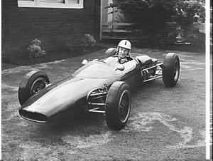 Cliff Trefrey builds a racing car at his house, Rodd Point
