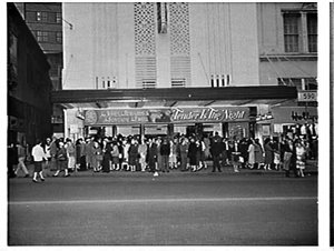 Exterior of the Century Theatre, 1962, advertising the film Tender is the night