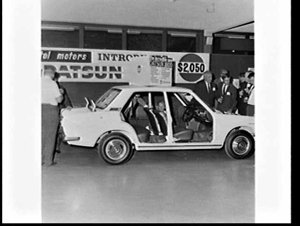 Launch of the Datsun 1600 car for $2,050 at Capitol Motors