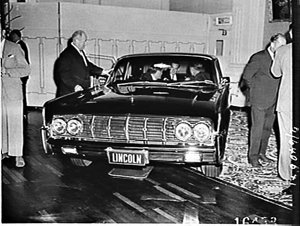 Ford's prestige cars: Lincoln Continental, Ford Thunderbird, Ford Fairlane and Ford Mustang, Wentworth Hotel Ballroom