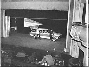Ford Falcon 1962 press preview, Tivoli Theatre and Chevron Hilton Hotel