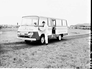 Thiess Toyota minibus in Norfolk (Island) Rentals Bus Service, Rosebery