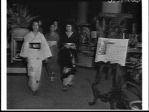 Japanese models in kimonos, Mark Foys