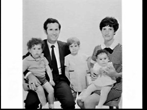 APA studio portrait of Mr. & Mrs. Sullivan and their young family