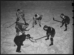 Ice hockey series / photographed by Ray Olson