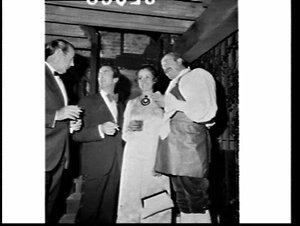 Advertising (?) dinner in evening dress, Argyle Cellars