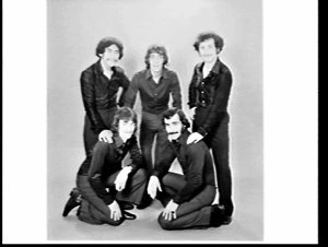 "APA studio photograph of pop group ""The Next Move"""