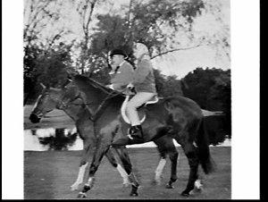Princess Anne riding in Centennial Park during the tour for the Captain Cook Bi-Centenary Celebrations tour