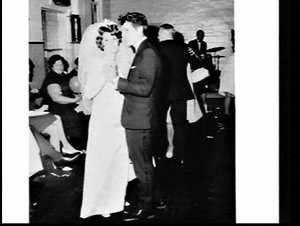 Wedding (photographs commissioned by J. Johnson), St. Pauls' Church of England, Bankstown and reception in unidentified hall where the Lakemba Oddfellows meet