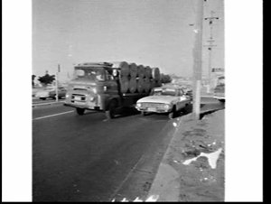 Jack Hickson photograph of site of car accident involving his Volkswagen, Princes Highway and Arncliffe Street, Tempe